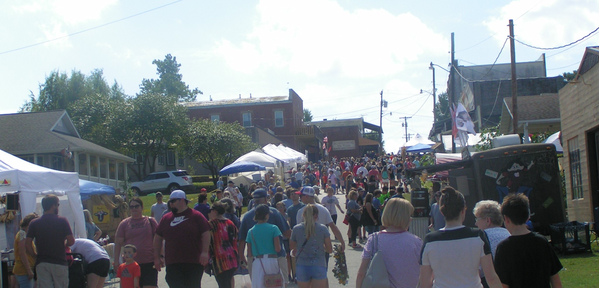 View of the Main Street during the Reunion